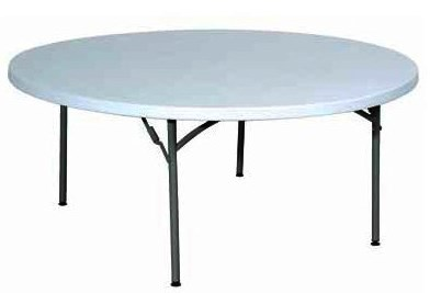 table-polyethylene rond